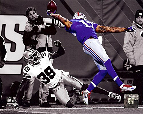 New York Giants Odell Beckham Jr. Makes The Catch of a Lifetime! 8x10 Photo. (Spotlight) (New York Pics compare prices)