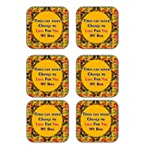 MeSleep Abstract Rakhi Wooden Coaster-Set Of 6 - B013LEOM1O