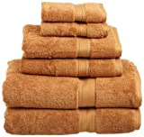 Superior 900 Gram Egyptian Cotton 6-Piece Towel Set, Rust