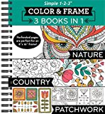img - for Color & Frame Coloring Book - 3 in 1 - Nature, Country, & Patchwork book / textbook / text book