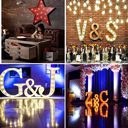 SOLMORE 23CM x 5.5CM LED Symbol Light DIY Vintage Metal Sign Carnival Wall Marquee Lights Decoration Arrow 7