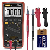 Auto Ranging Digital Multimeter TRMS 6000 with Battery Alligator Clips Test Leads AC/DC Voltage/Account,Voltage Alert, Amp/Ohm/Volt Multi Tester/Diode (Tamaño: Multimeter)