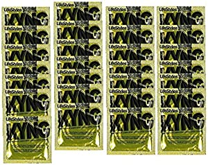 Lifestyles KYNG Premium Lubricated Large Latex Condoms Bulk [Larger Than Standard Condoms with Special Lubrication for Maximum Pleasure] - Pack of 60