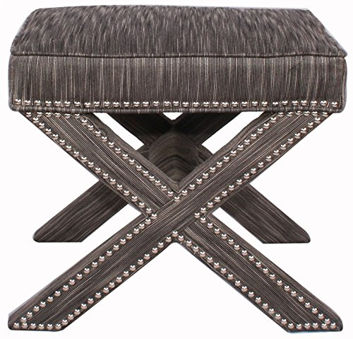 New Pacific Direct 1900009-RFB Marguerite Nailhead Stool (Rfb Direct compare prices)