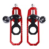 Helen-Box - Motorcycle Parts Chain Adjusters Tensioner Catena w/Spool CNC for Suzuki GSXR600 GSXR750 GSXR 600 750 2006 2007 2008 2009 2010 (Color: Red)