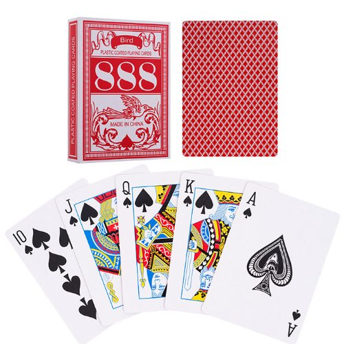 Trademark Poker Bird Poker Size Playing Cards (Set of 5), Red