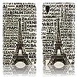Sony Xperia Z2 Kunst Leder CITY PARIS Design Klapp Stand Etui Schutz-H�lle Case Flip Tasche Cover thematys�