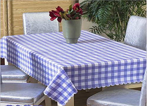 Uforme Everyday Use Rectangle Table Colth Water Repllent and Durable, No Odor PVC Table Cover Checks for Dining Room, Purple, 54 Inch By 72 Inch (W Hotel Room Scent compare prices)