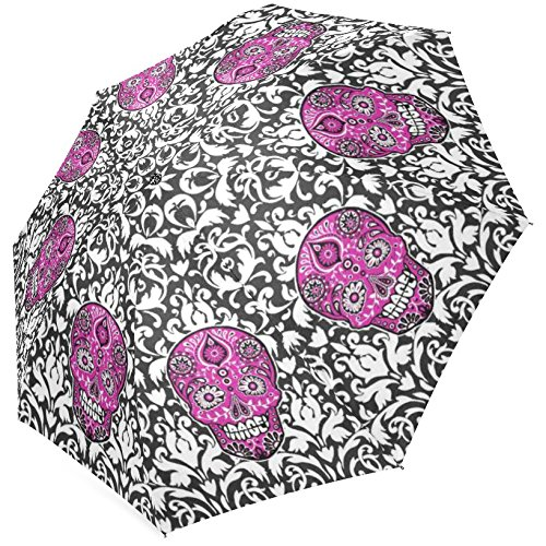 Grrl Sugar Skull Foldable Umbrella 43