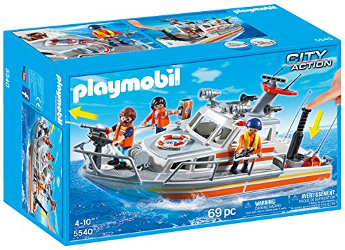 Playmobil-Rescue-Boat-with-Water-Hose-Playset