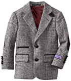 Isaac Michael Boys 8-20 Tonal-Plaid Blazer Jacket