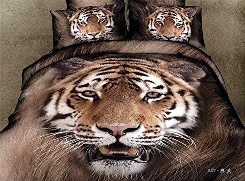 Tiger King Coffee Bedding Animal Print Bedding 3D Bedding Teen Bedding Animal Duvet Cover Set Gift Idea front-1069211