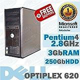 OptiPlex GX620 MT/Pentium 4 2.8 GHz/3Gb DDR2/250 Gb/DVD-RW/WINDOWS 7 PRO 32 BIT