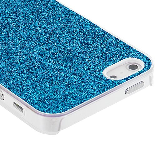 Cell Accessories For Less (Tm) Baby Blue Glitter Case Cover For Apple Iphone 5 / 5S - By Thetargetbuys front-904370