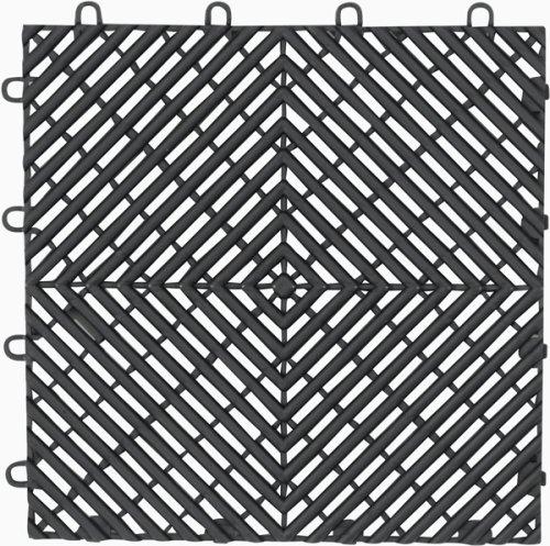 Images for Gladiator GarageWorks GAFT04DTPC Charcoal Drain Floor Tile,  4-Pack