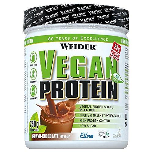 Weider Vegan Protein 750g Dose Brownie Schoko