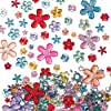 Self-Adhesive Acrylic Flower Jewels (Pack of 180)