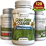 #1 Dual-Action COLON DETOX CLEANSE (120 Capsules) Best Ultimate Intensive Herbal Supplement Formula for Weight Loss Support | Total Cleansing Flushes Toxins & Eliminates Waste