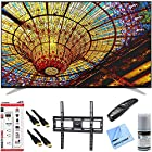 LG 65UF7700 - 65-Inch 240Hz 2160p 4K Smart LED UHD TV Plus Mount & Hook-Up Bundle - Includes TV with Magic Remote, Flat TV Mount, 3 Outlet Surge Protector, 2 x High-Speed HDMI Cable, Performance TV/LCD Screen Cleaning Kit, and Microfiber Cleaning Cloth