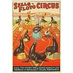 Sells - Floto Circus - Seals Vintage Poster USA c. 1932 (9x12 Collectible Art Print, Wall Decor Travel Poster)