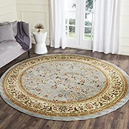 Safavieh Lyndhurst Collection LNH312B Traditional Oriental Light Blue and Ivory Round Area Rug (5\'3\