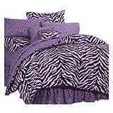 Karin Maki Zebra Complete Bedding Set, Queen, Lavender