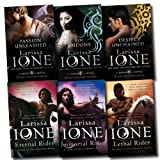 Larissa Ione Lords of Deliverance & Demonica Novel Series Collection Larissa Ione 6 Books Set (Eternal Rider, Immortal Rider, Lethal Rider, Sin Undone, Desire Unchained, Passion Unleashed)