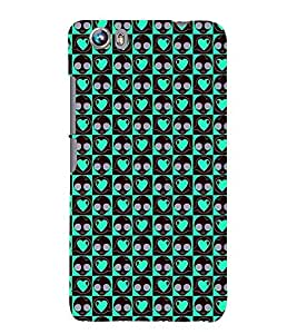 Printvisa Green Heart Pink Polka Dot Pattern Back Case Cover for Micromax Canvas Fire 4 A107