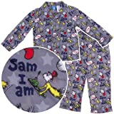 Dr. Seuss Young Boys Green Eggs & Ham Coat-Style Pajamas Size 5
