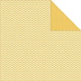 "Sn@p! Color Vibe Double-Sided Cardstock 12""X12""-Yellow Chevron/Mini Dot  25 per pack"