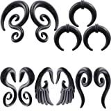 IPINK-5 Pairs Acrylic Spiral Snail Taper Plugs Tunnel Ear Stretcher Expander Kit Plugs 14-00 Gauges (5 Pairs of 4mm(6G))