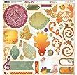 BoBunny Autumn Song Chipboard Fall Scrapbook Embellishment