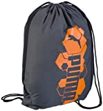 PUMA Pioneer Gym Sack Sports Bag grey Dark Shadow-Golden Poppy Size:37 x 47 x 1 cm