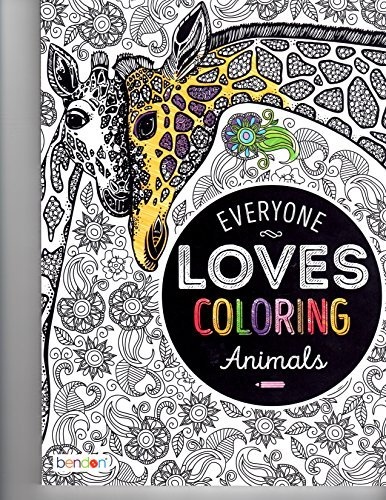 Bendon Animals Adult Coloring Book