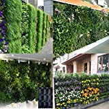 AMARS 9 Pocket Felt Wall Hanging Garden Plant Grow Container Bags Vertical Living Wall Hanging Planter or Herbs Strawberries Flowers