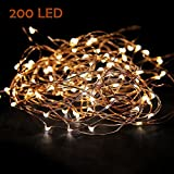 Extra Long 35ft 200led the Original Starry String Lights Copper Wire LED Warm White . Perfect for Parties, Bedrooms, or an Intimate Environment Anywhere in the Home.