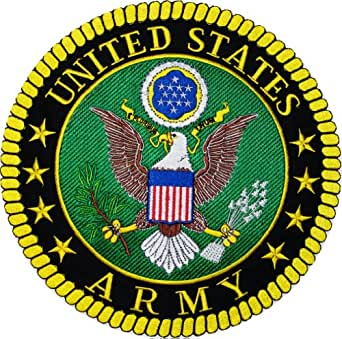 Amazon.com: US Army 10 inch Jacket/Vest Back Patch (Embroidered) by