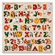 Skillofun Number, ABC Alphabet and Shape Puzzle with Picture & Knobs