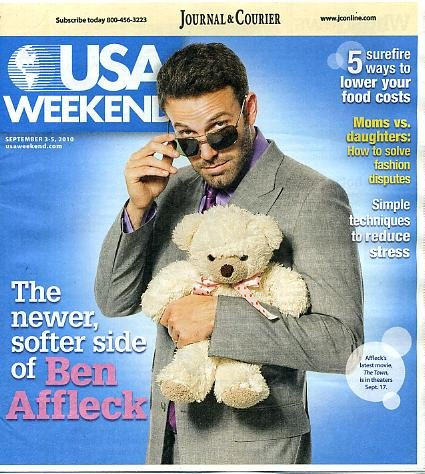 Usa Weekend September 3 2010 Ben Affleck On Cover, 5 Surefire Ways To Lower Your Food Costs
