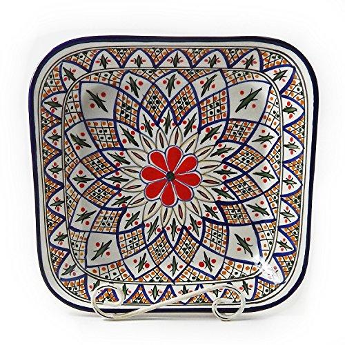Le Souk Ceramique Square Serving Bowl, Tabarka Design