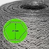 Grillage pour jardin casa pura® clôture zingué | tailles au choix | diamètre de maille 25mm | résistant aux intempéries | bricolage, 50cmx10m