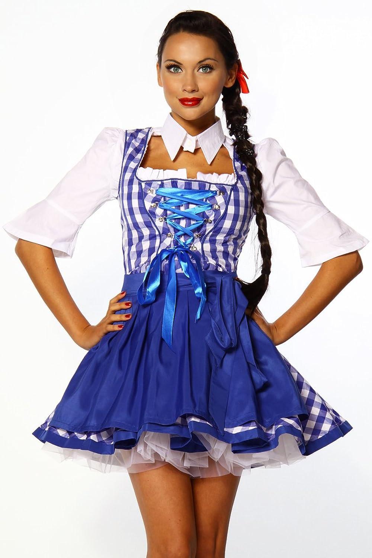 LH Dessous Traditionelles Dirndl Kleider Set Abendkleid blau Größe XL. Art 12106 günstig kaufen