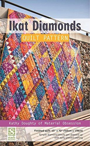 Ikat Diamonds Quilt Pattern: Finished Quilt: 65