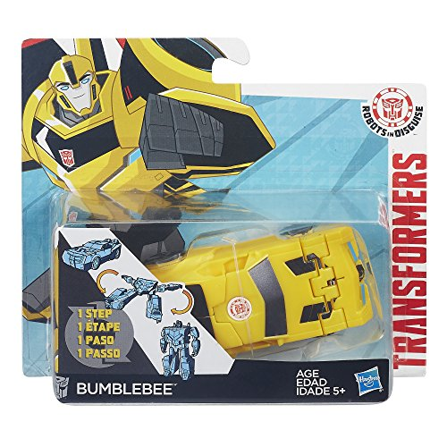Transformers Robots in Disguise 1-Step Changers Patrol Mode Bumblebee Figure from Hasbro