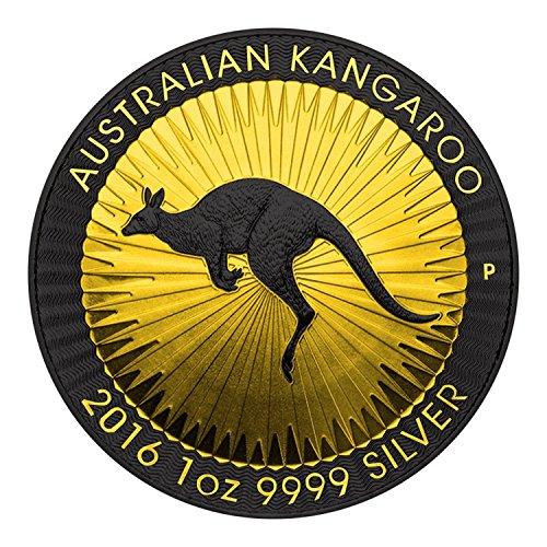 2016 AU Australian Kangaroo Shadows 1oz silver coin $1 Brilliant Uncirculated
