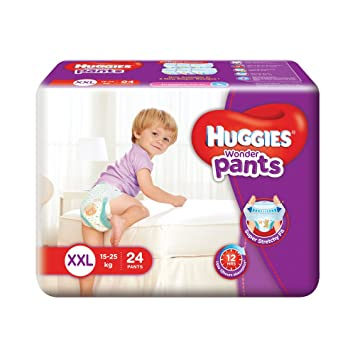 Image result for Huggies Wonder Double Extra Large Size Diapers Pants (24 Count)