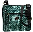 Coach Getaway Snake Print Nylon File Bag (Emerald Snake Print)