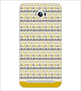 PrintDhaba Cycle Pattern D-1478 Back Case Cover for ASUS ZENFONE MAX ZC550KL (Multi-Coloured)