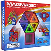 Magmagic Building Block Magnetic Toys, 30 Piece Starter Inspire Kit, Preschool Skills Educational Game Construction...