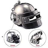 Focux PUBG Playerunknown's Battlegrounds Level 3 Helmet KeyChain Helmet Accessories PUBG Keychain Charm Souvenir Gifts PUBG Logo (Large Helmet)